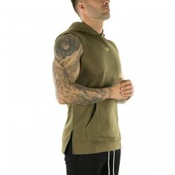 Sleeveless Tech Hoodie (Military Green)