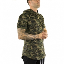 Short Sleeve Tech Hoodie (Camo)