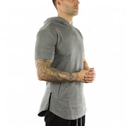 Short Sleeve Tech Hoodie (Carbon)