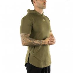 Short Sleeve Tech Hoodie (Military Green)