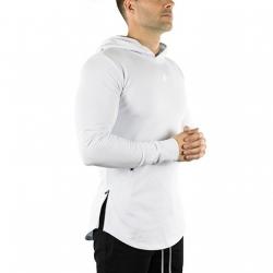 Long Sleeve Tech Hoodie (Arctic White)